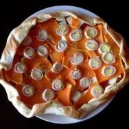 Galette de puerro, calabaza y queso feta